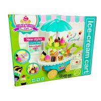 Mainan Anak - Ice Cream Cart Gerobak Jualan Es Krim Play Set Isi 55 Pc