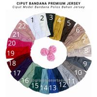 Ciput Bandana Polos Jersey Premium / Inner Jilbab Jersey