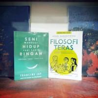 Paket 2 buku motivasi best seller seni hidup ringan dan filosofi teras