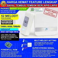 Door Bell Wireless Waterproof bel pintu pagar rumah tanpa kabel 3