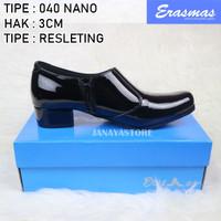 Sepatu Polwan Kowad PNS DISHUB Semi Ankle Boot Erasmas 3cm 040 Satpol