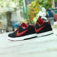 Sepatu Kets Casual Nike Waffle SJ Classic - Hitam Merah - Kuliah