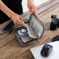 Digital bag waterproof Polyester / tas tempat kabel, hard disc dll