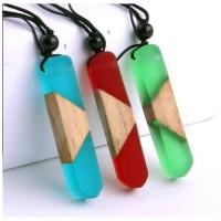 Kalung Kayu Resin Pendant Untuk Pria dan Wanita