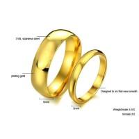 Cincin 316L Titanium Steel Perhiasan Couple Pria & Wanita
