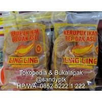 Kerupuk Ikan Belidak Belida Belido Lopis Asli Ling-Ling - Ketapan