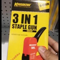 Termurah Krisbow Staple Gun Staples Tembak 6 - 12 Mm 3 In 1