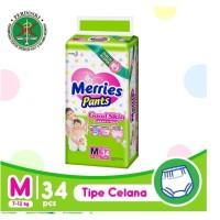Merries Baby Diapers Pants Good Skin M 34