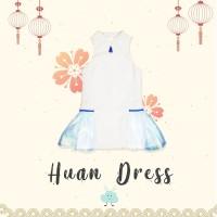 Diddlydoo Huan Dress in White Blue - Dress Xincia