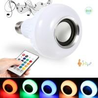 Terbaik Speaker Wireless Bluetooth dengan Lampu LED RGBW E27 12W