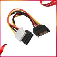 Borong Kabel Power SATA 15 Pin Male Ke 4Pin IDE Molex Female + SATA