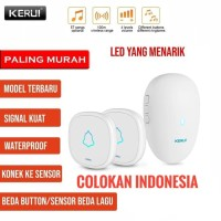KERUI M521 Wireless Bel Rumah wireless Multi Tone Doorbell 2 Transmitt