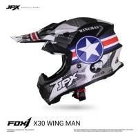 JPX Cross Full Face X30 Wing Man Black Doff