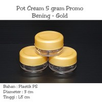 Pot cream 5gram / Pot cream 5gr / pot jar 5 gram PROMO bening gold