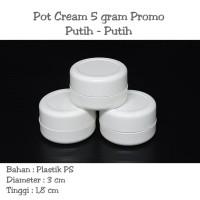 Pot cream 5gram / Pot cream 5gr / pot jar 5 gram PROMO Putih - Putih