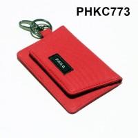 dompet stnk mobil motor gantungan kunci kain warna merah - PHKC773