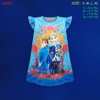(DS043) Daster Anak Frozen Beautiful Dream (Usia 5-9 Tahun)