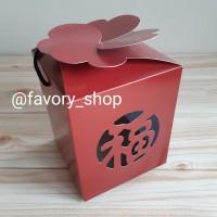 Dus Imlek Fu Maroon untuk 3 Toples Kue Kering uk 250gr (isi 5pcs box)