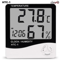 Digital Hygrometer Temperature Humidity dgn Fungsi Jam Alarm - HTC-1