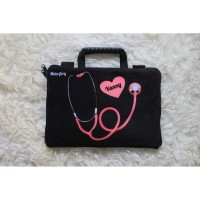 Tas Laptop Full Sablon Stetoscope 10-17 Inch Softcase Nurse Dokter
