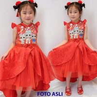 Gaun Cheongsam Anak High Quality (Premium) LOL SURPRISE
