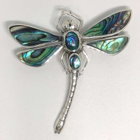 AB-Sweet Dragonfly 925 Bali Silver Pendant