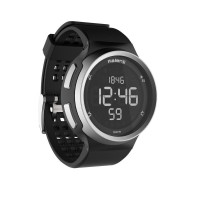 Jam tangan pria running stopwatch black waterproof water resistance