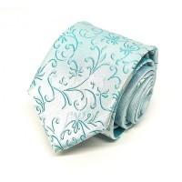 Houseofcuff Dasi Neck Tie Motif Soft Blue Half Batik Neck Tie