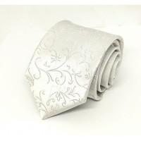 Houseofcuff Dasi Neck Tie Motif White Silver Half Batik Neck Tie