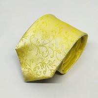Houseofcuff Dasi Neck Tie Motif Yellow Half Batik Neck Tie