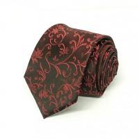 Houseofcuff Dasi Neck Tie Dark Red Maroon Half Batik Neck Tie