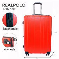 Real Polo Tas Koper Hardcase Fiber ABS 4 Roda Putar - 7716 Size 20 Inc