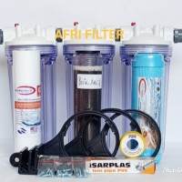 "Paket EKO 3 Saringan/ Filter Air Sumur Bor (Clear 10 drat 3/4"" SPG"