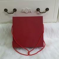 box merah tali 23x23x8cm/kotak kue lapis/imlek /sangjit/lamaran