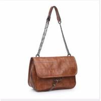 Tas wanita cewek branded import zara quilt leather kulit selempang
