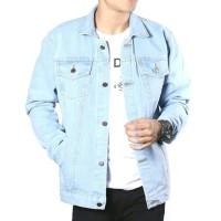 Jaket Levis Biru Pudar / Jaket Jeans / Jaket Denim biru pudar