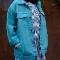 Jaket Levis Cewek Oversize Tosca / Jaket Jeans Cewek Oversize Tosca