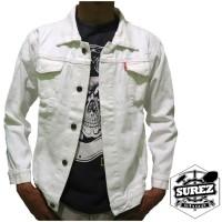 Jaket Jeans Putih / Jaket Denim Putih / Jaket Cowok Putih
