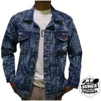 Jaket Jeans Denim Blue Sandwash Pria