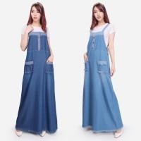 SB Collection Dress Maxi Wazen Overall Longdress Jumpsuit Jeans Wanita