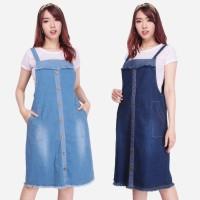 SB Collection Overall Windiy Dress Midi Pendek Jeans Jumpsuit Wanita