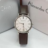 Jam Tangan Wanita Alexandre Christie AC 8625 Original - Silver Brown