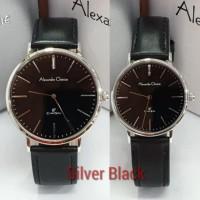Jam Tangan Couple Alexandre Christie AC 8625 Original - Silver Black