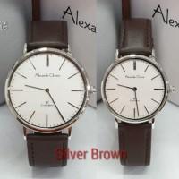 Jam Tangan Couple Alexandre Christie AC 8625 Original - Silver Brown