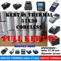 Kertas Thermal 57x30 / Struk 57x30 mm Printer Bluetooth Polos SPOT EDC