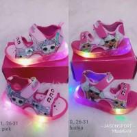Sepatu lampu anak cewe LOL sneakers murah original import impor