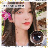 Softlens Mini someday by kitty kawaii Brown / Coklat