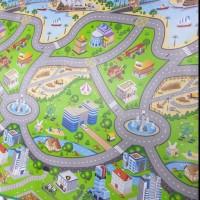 karpet gulung tikar Evamat -city map -track mobil