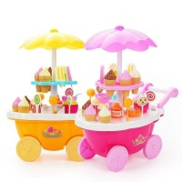 Mainan Anak Gerobak Ice Cream Play Set Edukasi Dagang Jualan No.666-9