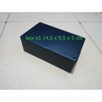 Box Project Hitam Plastik x5 ukuran 14,5 x 9,5 x 5 cm